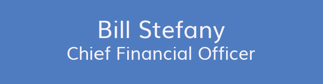 Bill Stefany<br />Chief Financial Officer